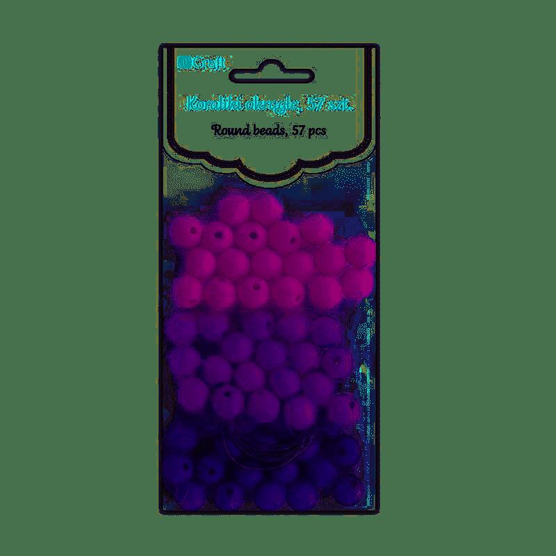 Koraliki Okrągłe 57szt  - Berry, Dp Craft
