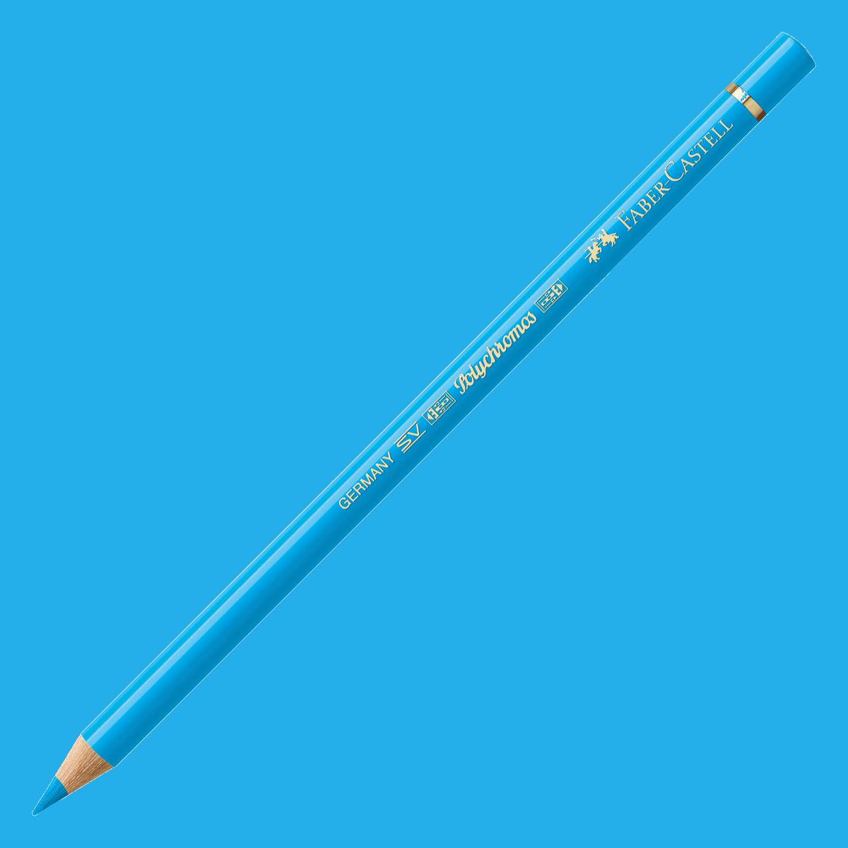 Kredka Polychromos 145 błękit ftalowy jasny, Faber-Castell